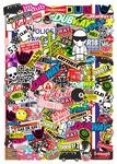A3 Size Portrait Format With Multi Colour Euro Style Icons for VW Etc. Premium Quality Vinyl Car Sticker Bombing Sheet